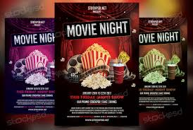 Movie Flyer Movie Night Free PSD Flyer Template On Behance 4