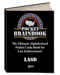 Lasd Force Options Chart Pocket Brainbook 3 In1 Codebook For Police Officers Lasd