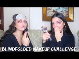 sisters do blindfolded makeup challenge hilarious چالش آرایش چشم بسته persianbunny79352