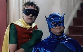 del boy and rodney dressed up as batman and robin for the annual publicans fancy
