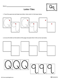 Letter Q Tracing Writing Letter Tiles Printable