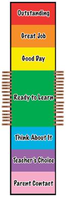 Kindergarten Behavior Color Chart Isaac Tripp Elementary School