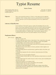 Typist Resume Sample Typist Resume Samples for Microsoft Word doc 1
