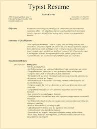 Typist Resume Samples For Microsoft Word Doc