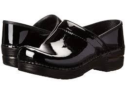 dansko professional black patent leather clog shoes comparison history