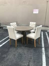round dining table 42 whit 4 tufted chairs all new furniture in los angeles ca offerup