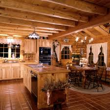 Log Cabin Kitchen Decor Chic Log Cabin Kitchens With Hickory Cabinets Decor Ginkofinancial