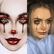 simple pictures best 25 easy clown makeup ideas on clown
