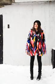 zara faux fur coat with multicoloured stripes size s eur 56 36