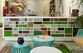 modern colorful furniture. View In Gallery Eclectic-interior-splashed-in-colorful-furniture-and-art- Modern Colorful Furniture O