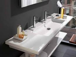 sinks trough bathroom sink with two faucets double faucet vessel sink long decorate idea wastafel