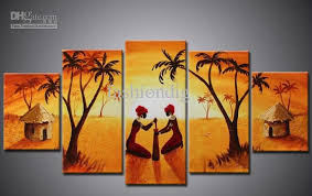 office canvas art. Discount Wall Art African Figure Portrait Oil Painting Canvas Artwork Home Office Decoration Scenery Handmade