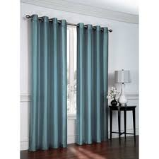 Belterra Faux Silk Semi- Sheer Grommet Curtain Panels (Set of 2)