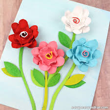 How To Macke Egg Carton Flowers Recycled Egg Carton Crafts Easy Peasy