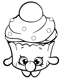 Small Picture Bubble Cupcake Shopkin coloring page Free Printable Coloring Pages