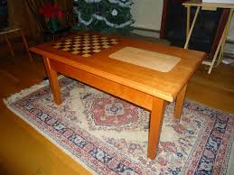 custom made chess cribbage coffee table