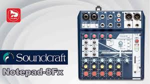 Маленький микшер <b>SOUNDCRAFT Notepad 8FX</b> (с процессором ...