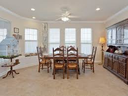 recessed tile dining