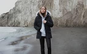 Canada Goose Ladies Brookvale Hooded Coat in Black