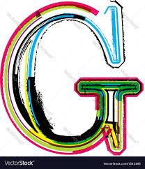 letter g grunge colorful font letter g royalty free vector image