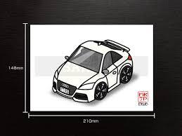 車種別オリジナルかわかっこいいイラストa5サイズメール便送料無料