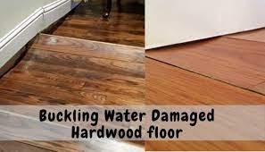 hardwood floor buckling water damage