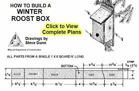 Birdhouse Patterns New Easy Winter Bird House Plans Winter Roost Box