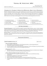 Hospital Pharmacist Resume Examples Profile Experience Cover L