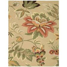 nourison french country beige 8 ft x 11 ft area rug