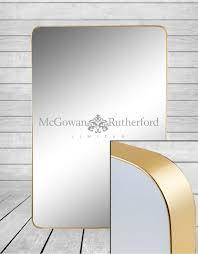 large rectangular gold framed arden