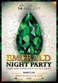 Emerald Flyer Template Emerald Party PSD Flyer Template 100 Styleflyers 2