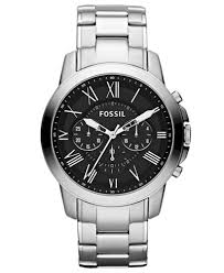fossil men s chronograph grant stainless steel bracelet watch 44mm fossil men s chronograph grant stainless steel bracelet watch 44mm fs4736