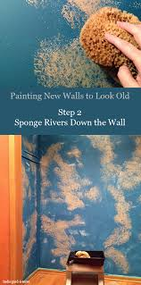painting new walls to look old step 2