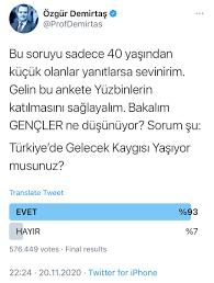 """Özgür Demirtaş on Twitter: """"Anketim sonuçlandı: 576 Bin Genç oy kullandı.  Anket 1 günden fazla herkese açık olsa daha fazla da olurdu. Ama bu katılım  bile bir çok Siyasi partinin oy oranından"""