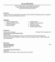 Construction Superintendent Resume Create My Resume Commercial Mesmerizing Create My Resume