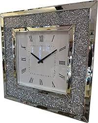 crystal decor diamante square mirror