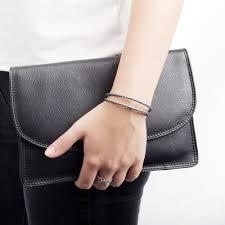 pandora cb63817 silver grey double leather bracelet