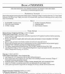 Marine Science Technician Marine Science Technician Resume Example United States Coast