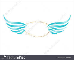 abstract angel frame royalty free stock ilration