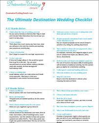 Wedding Detail Checklist The Best Destination Wedding Checklist Destination Wedding