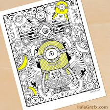 If you love minion characters from despicable movie then start coloring your very own minion with anyway, these coloring pages fit for everyone in any ages meaning not only for kids, so you can. Free Printable Minion Coloring Page For Adults