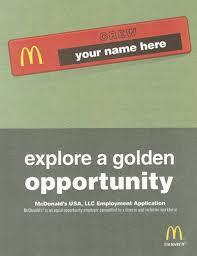 Mcdonalds Application Form Free Download Create Edit Fill