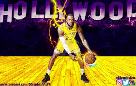 lebron james los angeles lakers wallpaper by cgraphicarts