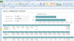 Commission Tracker Template for Excel 2013