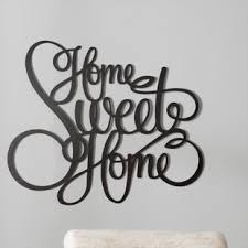 laser engraved home sweet home wall d cor on bless this home metal wall art with home sweet home wall decor wayfair