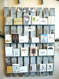 greeting card holder for wall holders unique cards display ideas racks metal