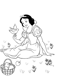 Disney Princess Coloring Pages Snow White 494526