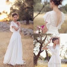 discount bohemian hippie style wedding dresses 2017 beach a line