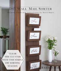 wall mounted mail organizer from s wood wall mount s and woods