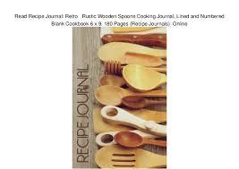 Recipe Journals Read Recipe Journal Retro Rustic Wooden Spoons Cooking